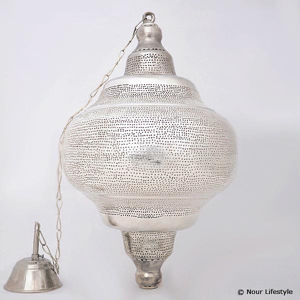 Arabische hanglamp Basha gaatjes