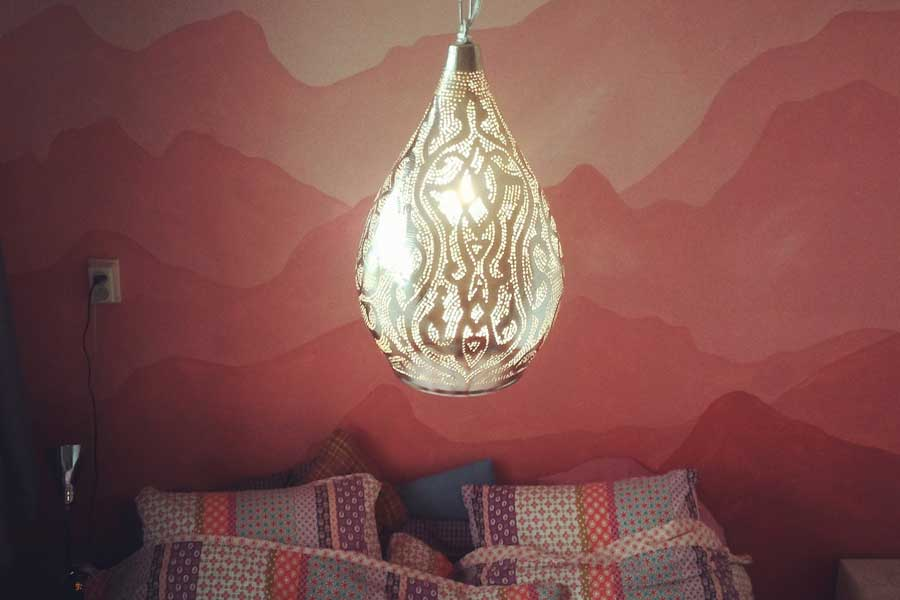 Hanglamp Nile in slaapkamer