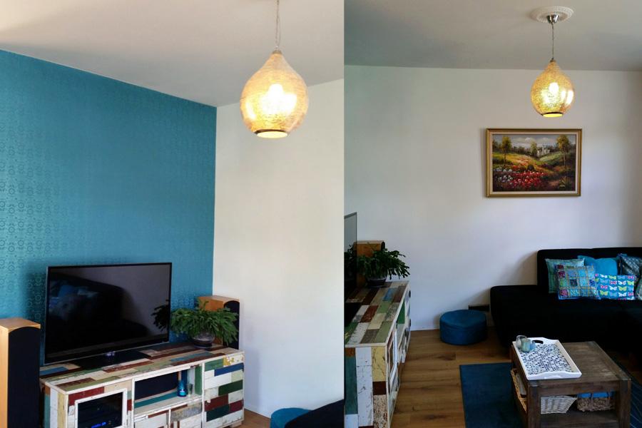 Hanglamp Uma boven zithoek