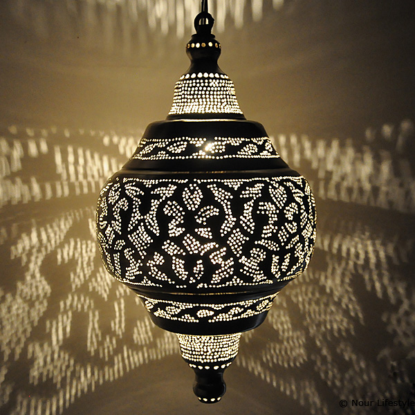 egyptische lamp basha arabisch gesloten verzilverde. Black Bedroom Furniture Sets. Home Design Ideas