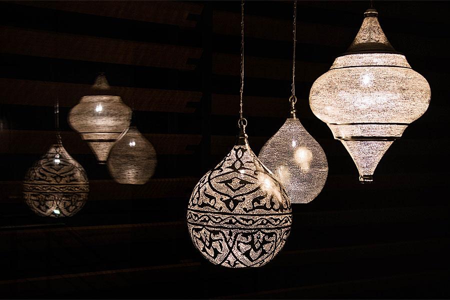 Arabische XL lampen in de hal
