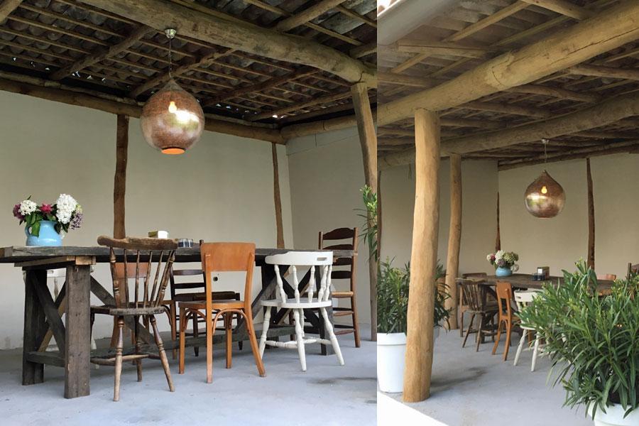 Veranda met XXL Oosterse hanglamp Uma