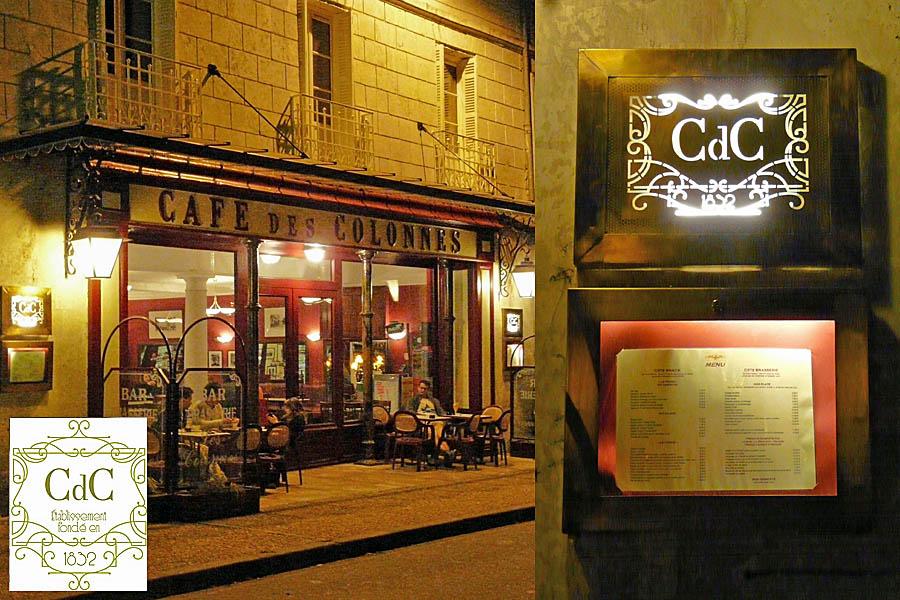 CaféŽ des Colonnes - RibŽrac - Frankrijk