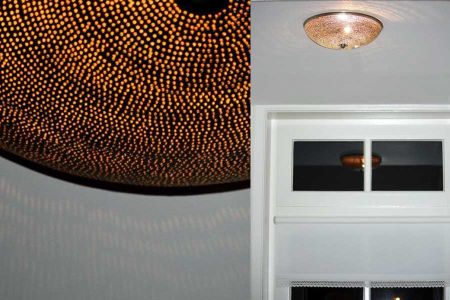 Plafondlamp Warda met gaatjes