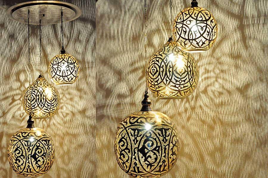Groep Egyptische hanglampen