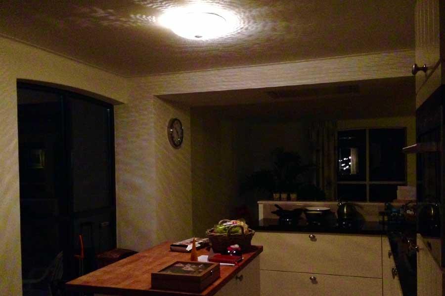 Plafondlamp Warda in keuken