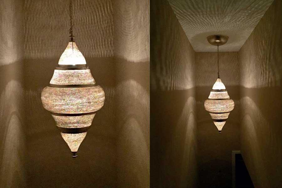 Extra grote hanglamp Basha met gaatjes - 120 cm