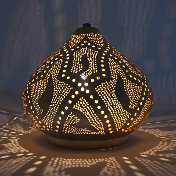 Arabische tafellamp Farah - geel koper