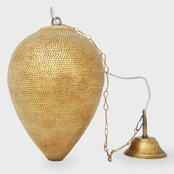 Arabische hanglamp Nada G - geel koper
