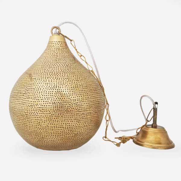 Arabische hanglamp Uma - geel koper