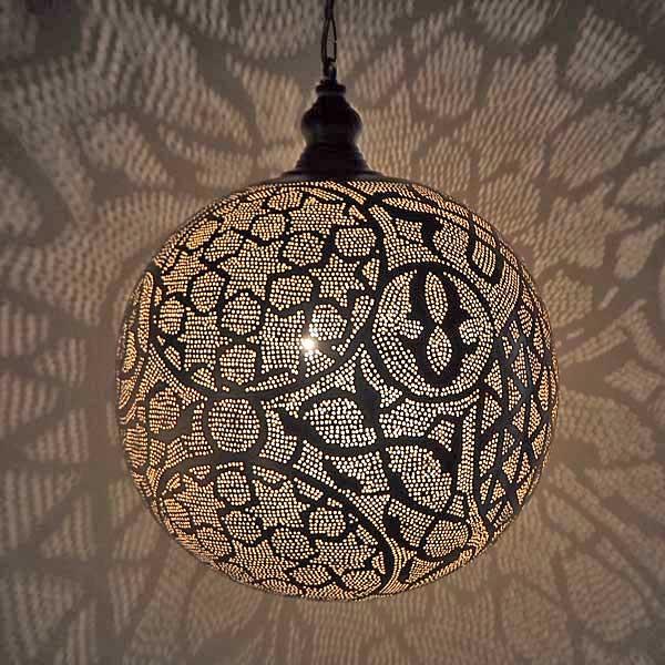 Arabische hanglamp Isra - gesloten bol