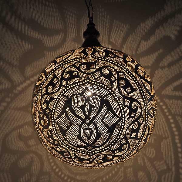 Arabische hanglamp Qorna - gesloten bol