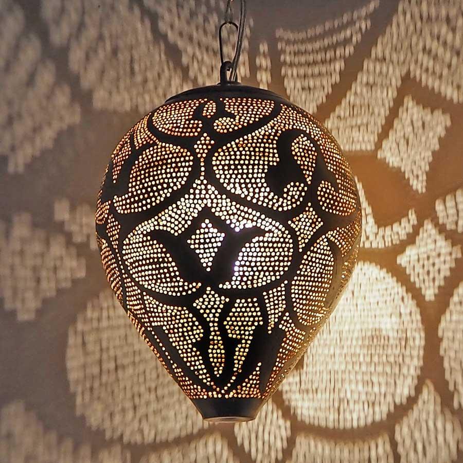 Arabische hanglamp Nada A - geel koper