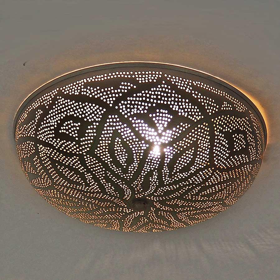 Arabische plafondlamp Warda - A - geel