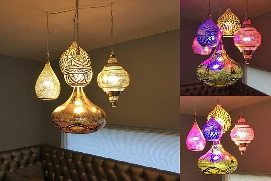 Groep Oosterse hanglampen