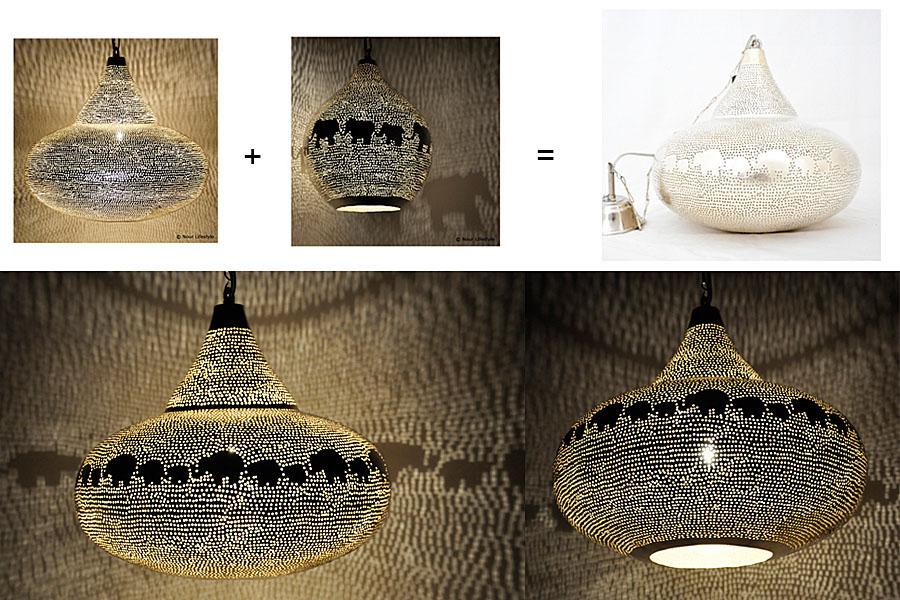 Maatwerk olifanten kinderlamp
