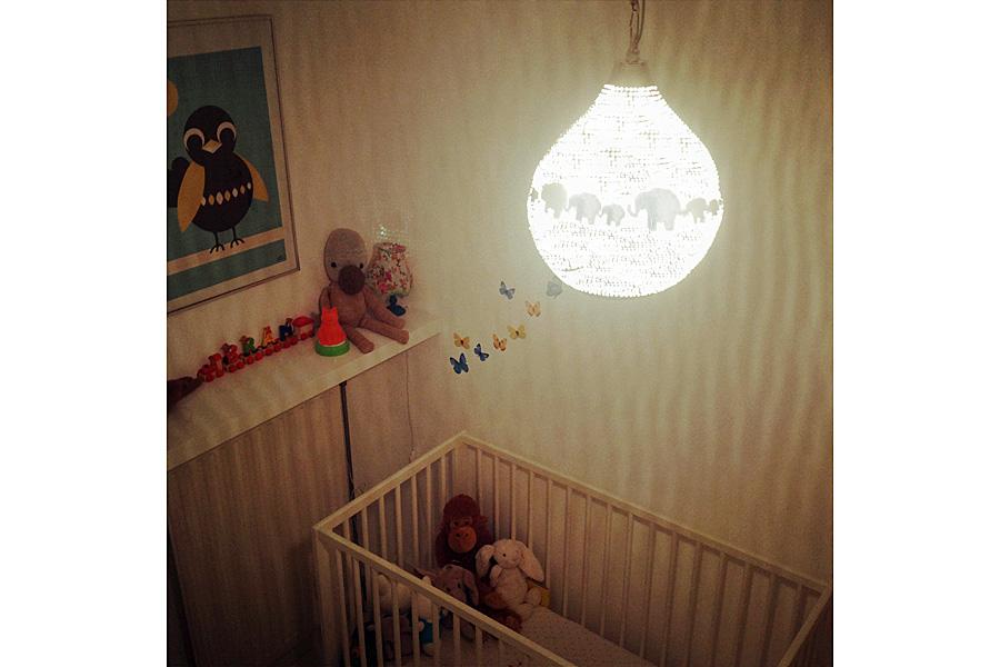 Kinderlamp Zellouma met olifanten