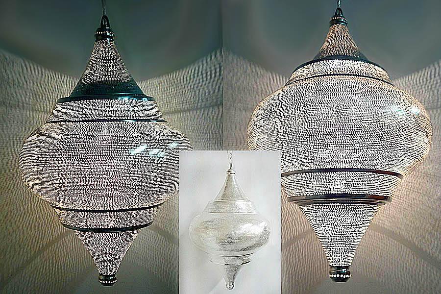 Op maat gemaakte extra grote hanglamp Basha met gaatjes