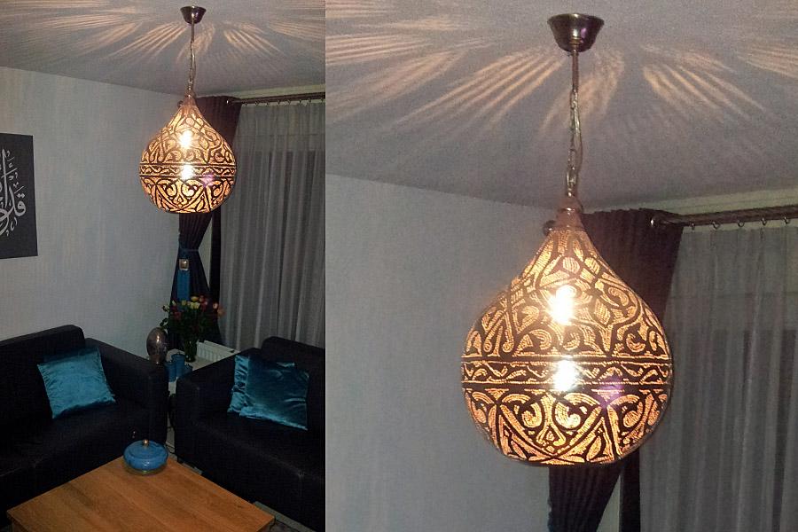Oosterse lamp Haifa bij zithoek