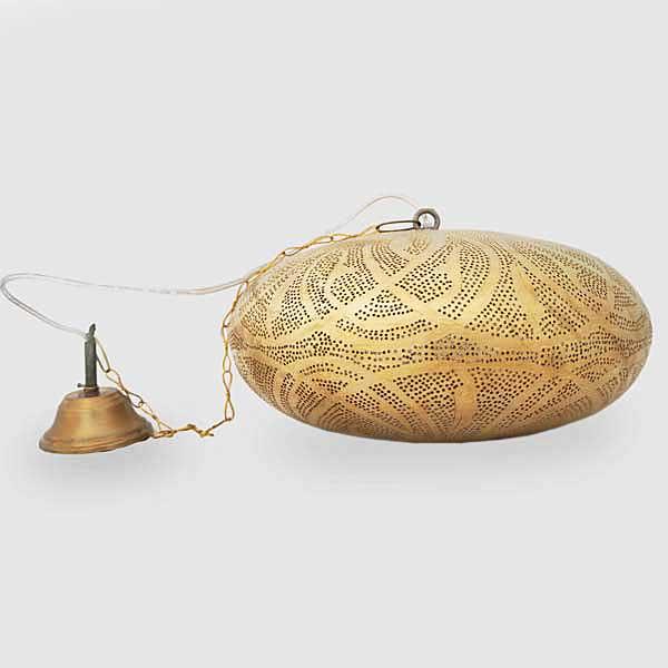 Arabische hanglamp Kamanga - geel koper