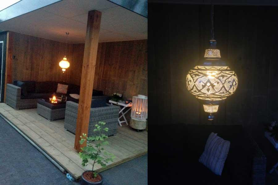 Veranda met Oosterse lamp Basha