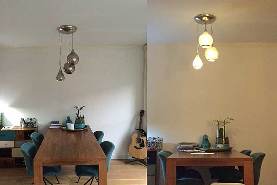 Examples egyptian lights for Above dining table lights