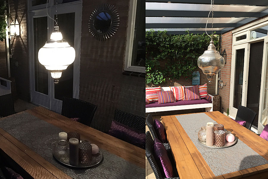 Arabische hanglamp Basha XL