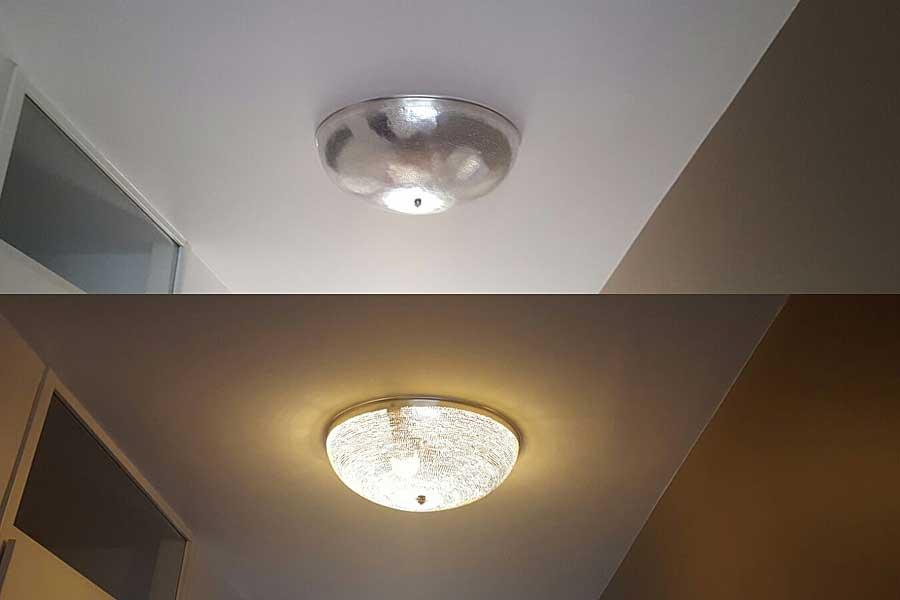 Plafondlamp Warda met gaatjes in maat XL