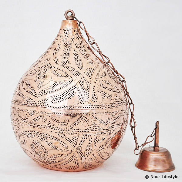 Arabische hanglamp Haifa - rood koper