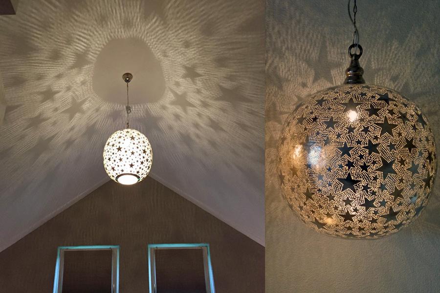 Maatwerk sterren lamp XL