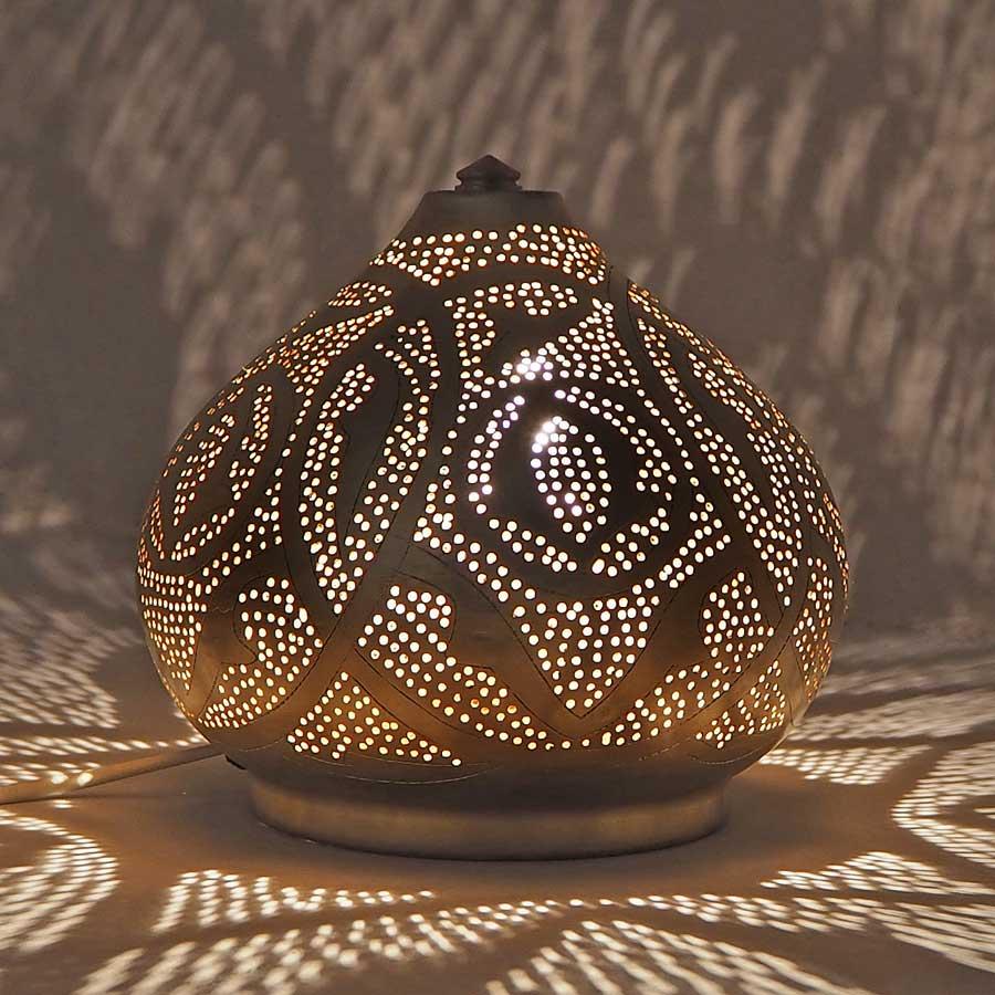 Arabische tafellamp Narjas - geel koper