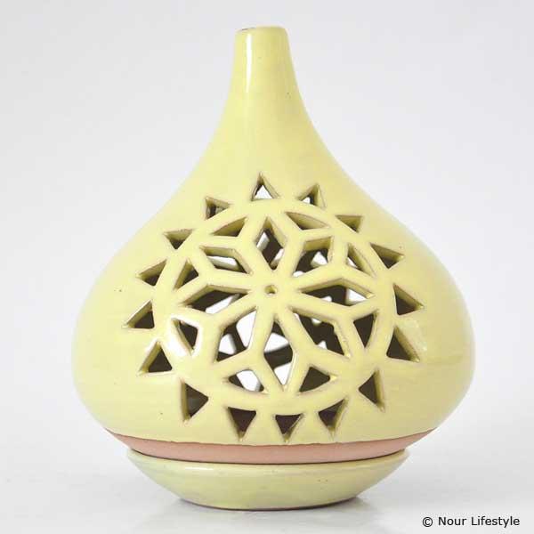 Terracotta kaarshouder Bassala lime