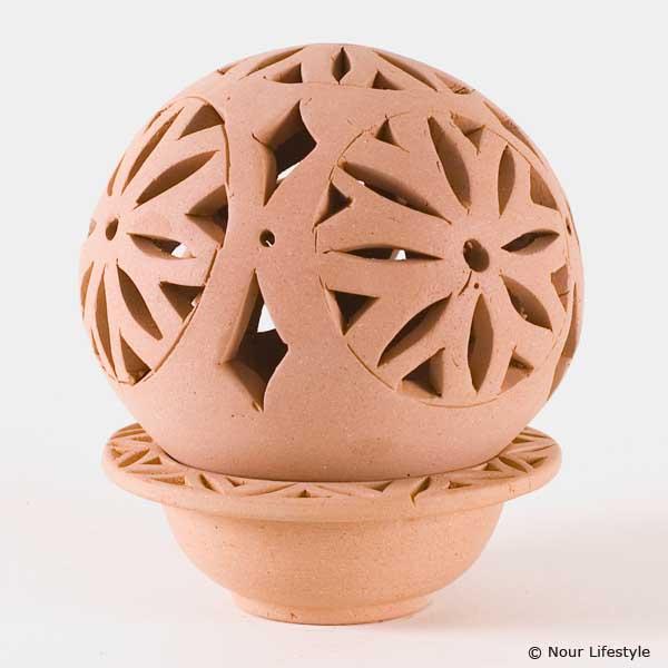 Terracotta kaarshouder Djamila