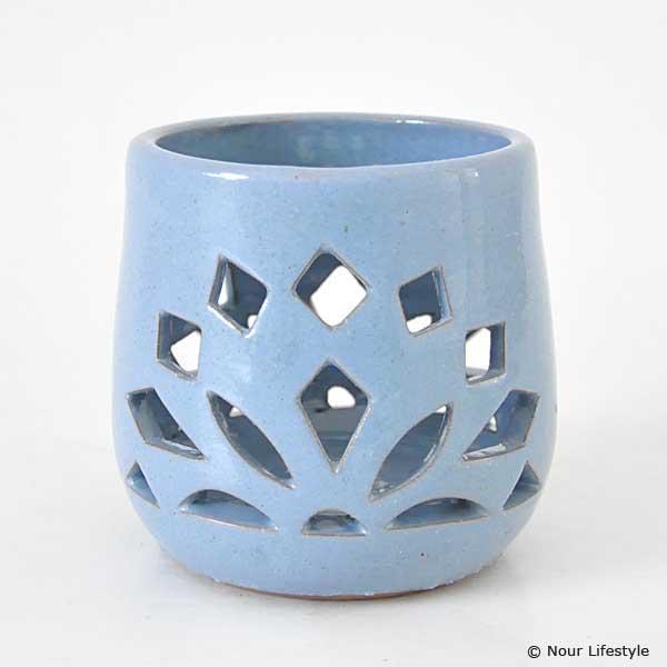 Terracotta kaarshouder Koebaja blauw