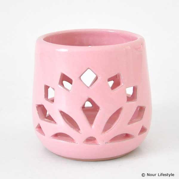 Terracotta kaarshouder Koebaja roze