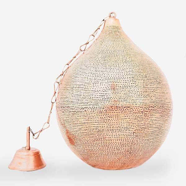 Arabische hanglamp Uma - rood koper