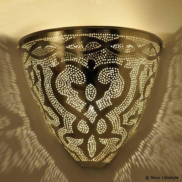 Arabische wandlamp Gamsa