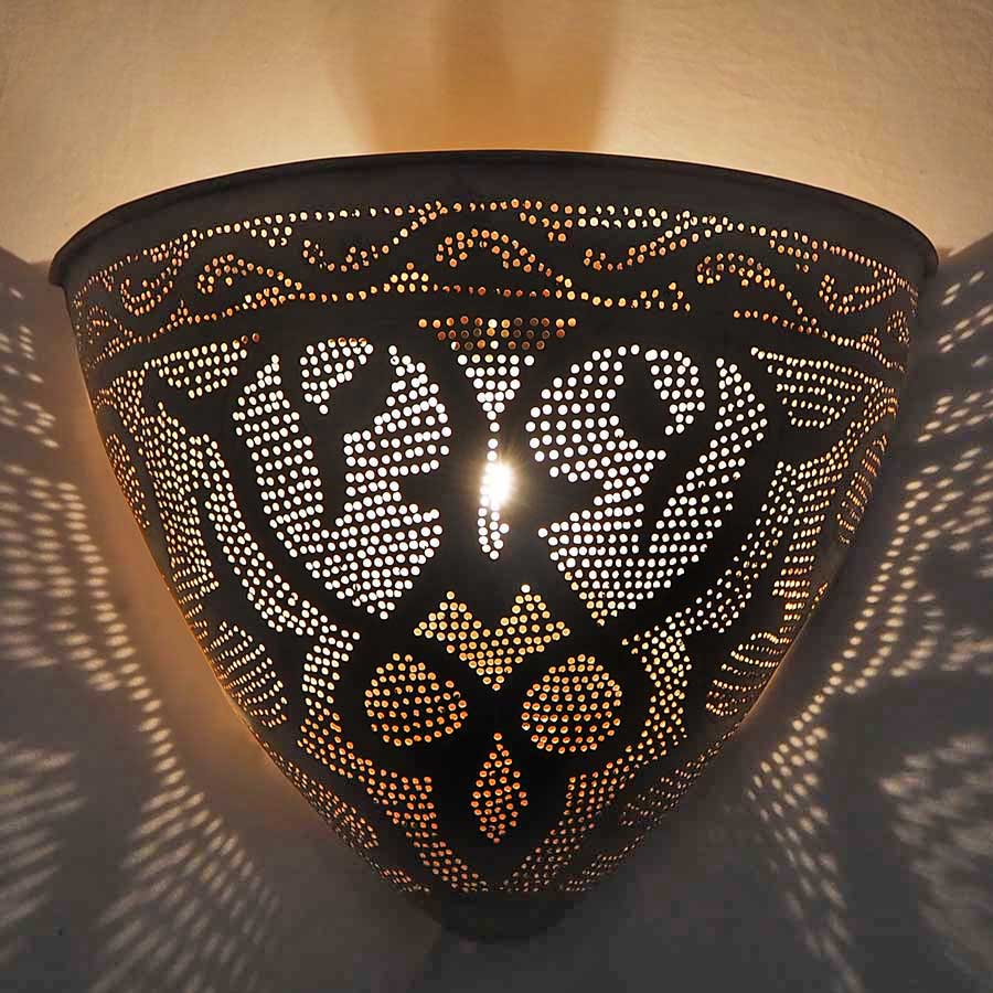 Arabische wandlamp Gamsa - geel