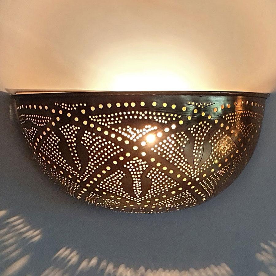 Arabische wandlamp Helal Q - goudkleurig