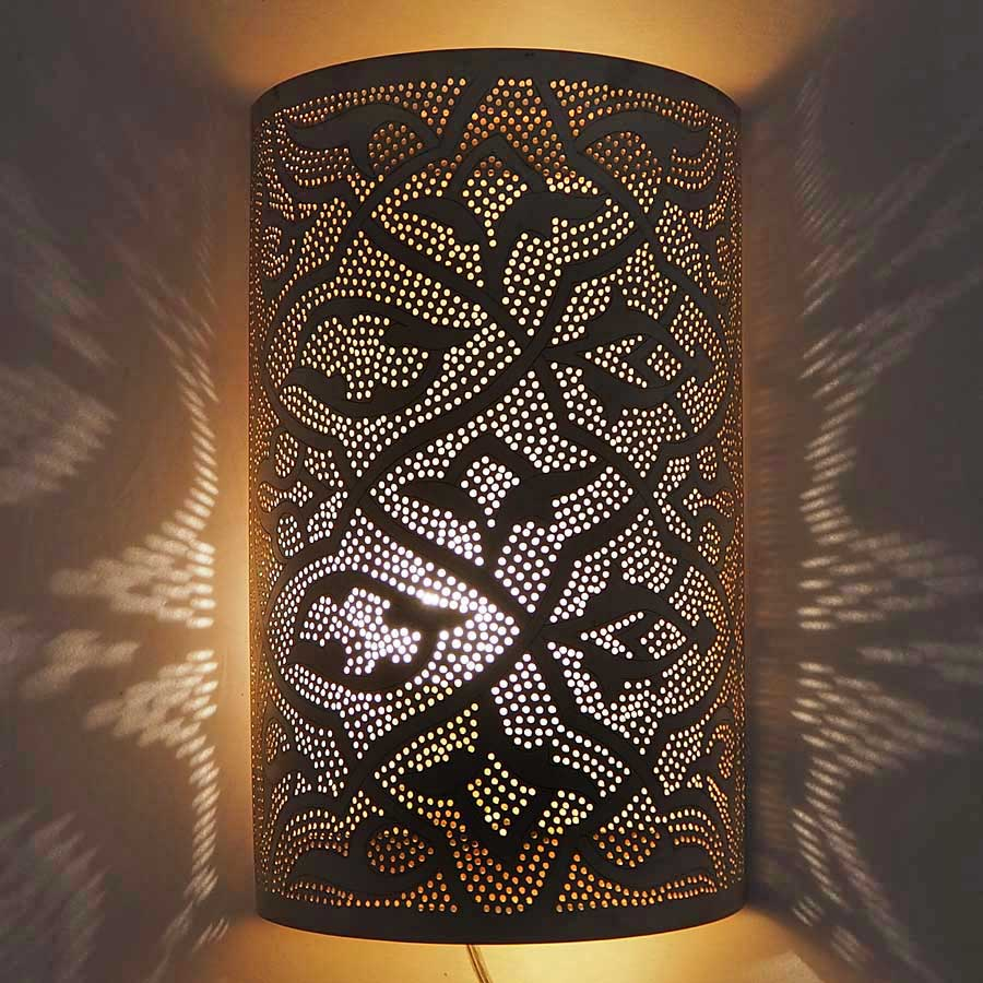 Arabische wandlamp Sjad A - geel