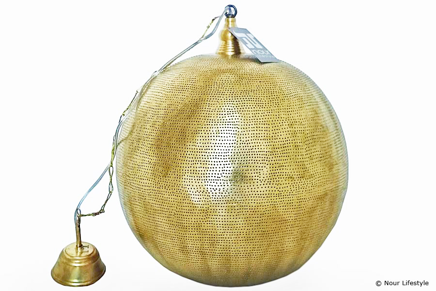 Hanglamp Arwa XL in mat geel koper