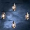 Kerstverlichting LED lichtsnoer zilveren lantaarns