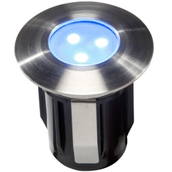 ALPHA RVS 316 LED SPOT BLAUW, 12 VOLT