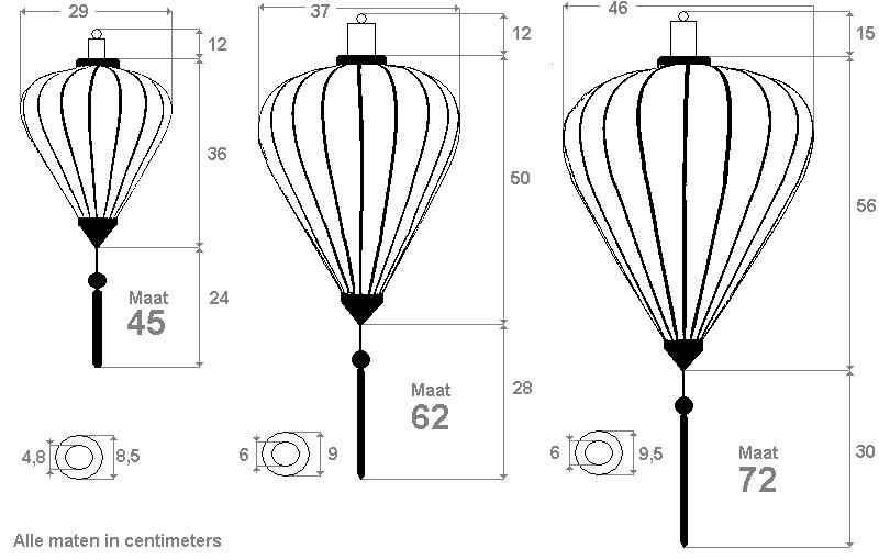 Lampionnen in de vorm van Ballon
