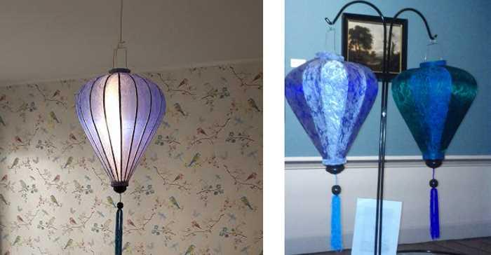 Blaue Lampion und Turkis Lampion