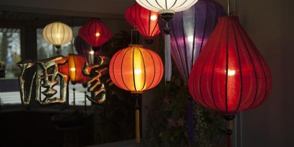 Die farbige China Lampe von Lampionsenzo.de