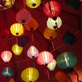 Chinese silk lamp shade