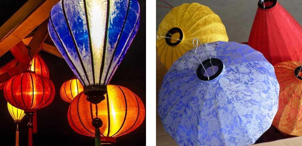 Dekorieren mit blaue Lampions