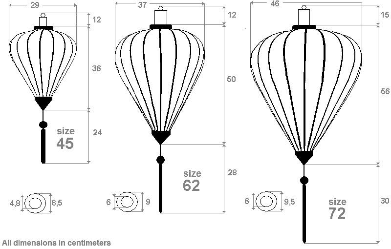 Silk lanterns shape globe round