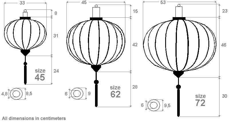 Silk lanterns shape drop